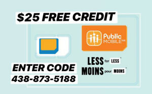 @@@ Public Mobile Cell Phone Plan referral: FREE $25 + CINEPLEX!