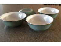 REDUCED! 4x Denby Regency Green Cereal Bowls