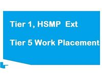 Tier 1 entrepreneur, HSMP, Exceptional Talent, Tier 2 and 5 work Placements