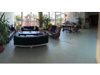 Bright double room in warehouse