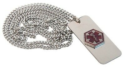 Medical Alert Necklace Emergency With Wallet Card 24