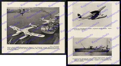 Lufthansa Blohm & Voss Ha 139 D-AMIE Kran Katapultschiff Luftfahrt Post Kiel ´38