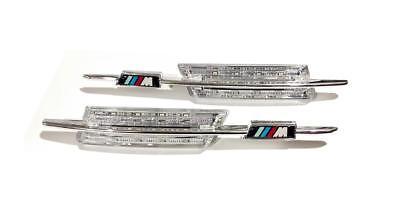 BMW M-Style Fender Crystal Amber LED Side Indicators 1/3/5 Series