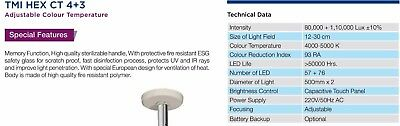 Led surgical twin ceiling OT light multi color with memory function CT 4+3