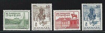 1937 Denmark Scott #258-261 - King Christian X 25th Year on Throne - MH