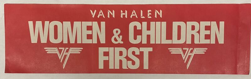VAN HALEN Women and Children First 1980 US PROMO Only BUMPER STICKER Unused! VG+