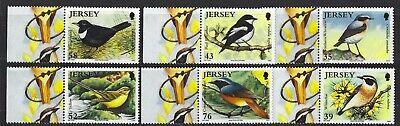 Jersey 2008 Birdlife II - Migrating Aves Conjunto De 6 sin Montar Nuevo, MNH image