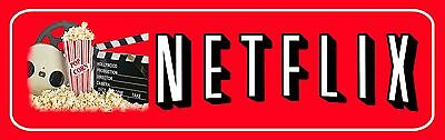 Netflix Aluminum Movie Sign For Home Theater 13 5  X 4