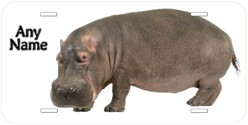 Hippopotamus Personalized Novelty Aluminum Car License Plate P01