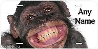 Chimpanzee Novelty Aluminum Car Auto License Plate