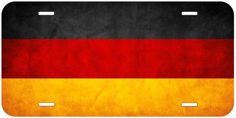 Germany Grunge Flag Aluminum Novelty Car License Plate
