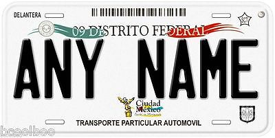 Distrito Federal Mexico City Personalized Novelty Auto Car License Plate C01 - City Novelties