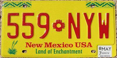 NEW MEXICO Yellow Zia Sun License Plate - Random Letters - NM
