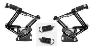 NEW 1967-1968 Mustang Cougar Hood Hinges & Springs PAIR both left and right side