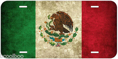 Mexico Grunge Flag Aluminum Novelty Car Aoto License Plate