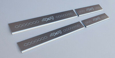 Ford Ranger (2015 on) Double Cab Stainless Steel Sill Protectors / Kick Plates