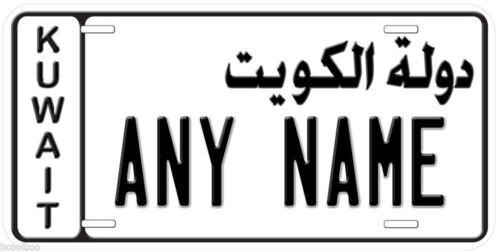 Kuwait Any Name Personalized Novelty Aluminum Car Auto License Plate