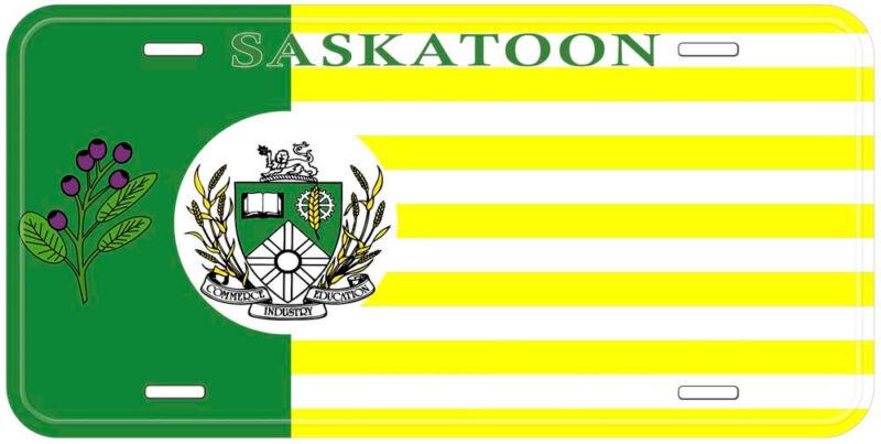 Saskatchewan Saskatoon Flag Canada Aluminum Novelty Car License Plate