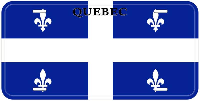 Quebec Flag Canada Aluminum Novelty Car License Plate