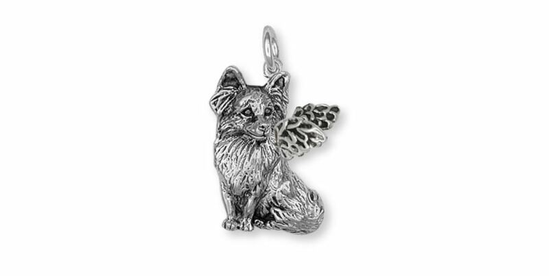 Papillon Angel Charm Jewelry Sterling Silver Handmade Dog Charm PA1-AC