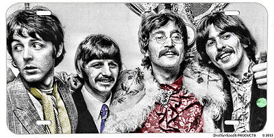 The Beatles Paul Ringo George & John Aluminum License Plate Man Cave