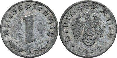 Reichspfennig 1942 J Deutsches Reich, Adler #FTC108