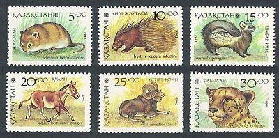 Kazakhstan Mammals 6v SG#29/34
