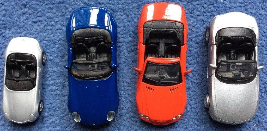 4 x Vintage Model Cars - Mercedes, BMW x 3 - approx 10 years old