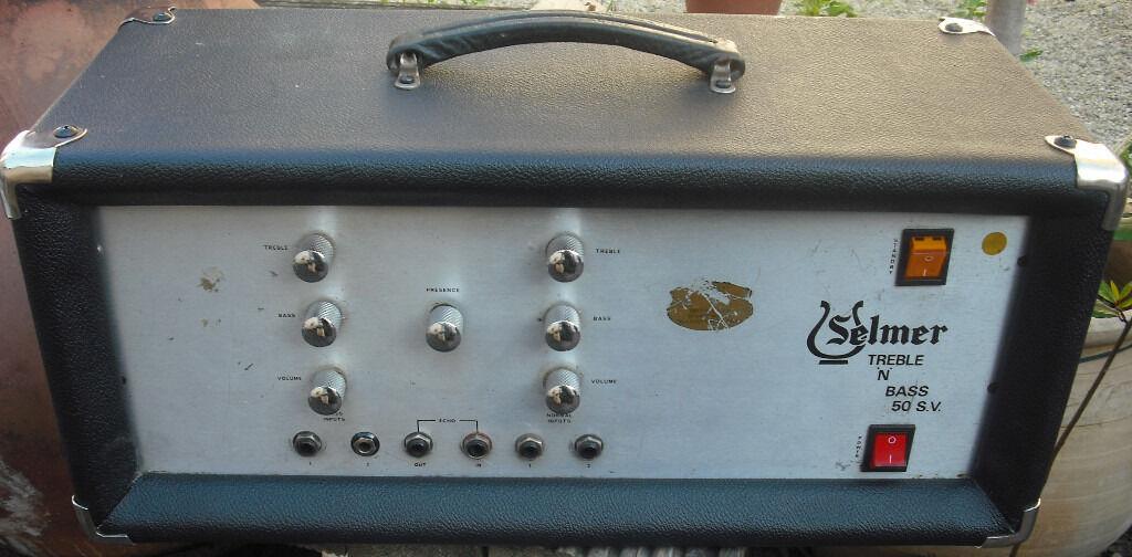 Selmer treble and bass 50SV 50w vintage british valve amplifier tube ...
