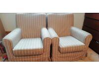 IKEA SOFA - 2 x single seater sofa/armchair