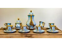 Fine bone china - Blue & Gold - 18pc -Coffee set - never used - offers in the region of £40ono