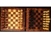 MOROCCAN HANDMADE THUYA WOOD BOX GAME 3in1CHESS BACKGAMMON DRAUGHTS KIDS ADULTS GIFTS IDEA