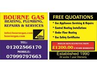 Bourne Gas Service & gas work . plumbing heating and gas work .