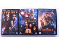 Iron Man 1+2+3 (Three DVDs)