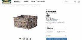 3 IKEA Baskets for Sale - £15