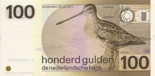 NETHERLANDS 100 GULDEN 1977 P-97 UNC