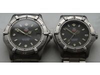 Tag Heuer 2000 automatic mechanical wristwatch - Men's and mid size pair - '80s - Vintage