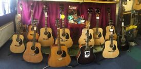 Guitar clearance sale. Over 100 to sell up to 50% reduction