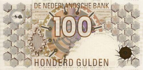 NETHERLANDS 100 GULDEN 1992 P-101 UNC