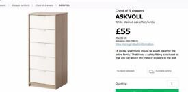 Ikea Chest of Drawers - two available (£40 per one)