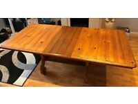 Solid Antique Pine Extendable Dining Table and 6 Chairs