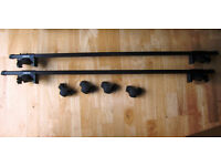 Set of Car Roof Bars. From Halfords. Fit Cars With Roof Rails. Type 1054