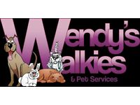 Dog walking, Pet Taxi, Home Pet and Puppy visits, Equine services (mucking out/ Turning out)
