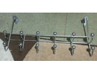 Over door chrome plated hooks. (4nos)