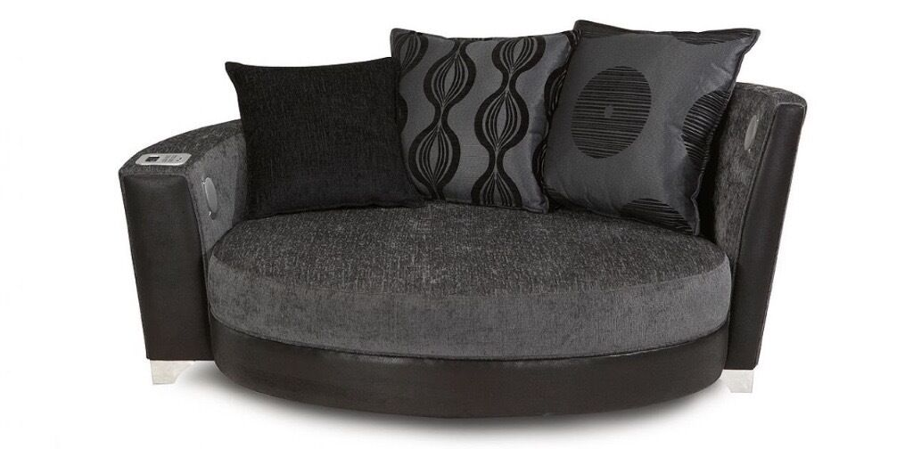 cuddle chair small sofa includes built in docking. Black Bedroom Furniture Sets. Home Design Ideas
