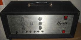 Selmer treble and bass 50SV 50w vintage british valve amplifier tube amp 50 SV master volume