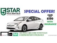RENT UBER READY PCO TOYOTA PRIUS CAR Inc Fully Comp Insurance(Ilf)