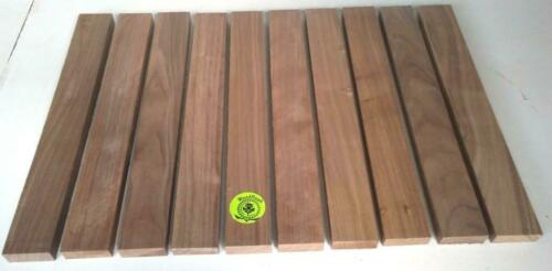 "3/4"" x 2"" x 16"" BLACK WALNUT Wood Cutting Lumber Pack of 6 or 10 Kiln Dry"