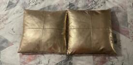 Rose gold pillows