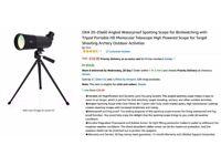 20x60 Waterproof Spotting Scope HD Monocular Telescope with Tripod